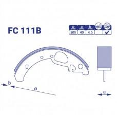 Колодка тормозная задняя Lada Granta, FC111B, к-т