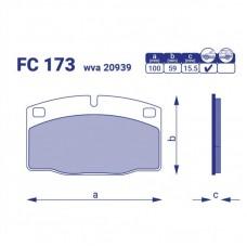 Колодка торм. передняя Opel Kadet, FC 173 ,к-т