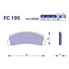 Колодка тормозная передняя ВАЗ Нива, FC195, к-т