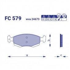 Колодка тормозная передняя Lada Largus универсал, FC579, к-т