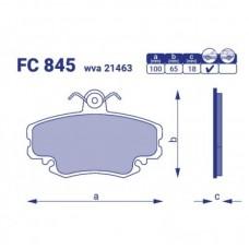 Колодка тормозная перед. RENAULT Clio II, FC845 ,к-т
