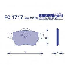 Тормозные колодки FC 1717
