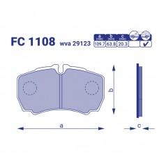 Колодка тормозная задняя Iveco Daily V с борт.плат/ход.часть, FC1108, к-т