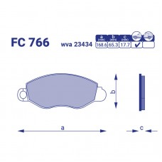 Тормозные колодки FC 766