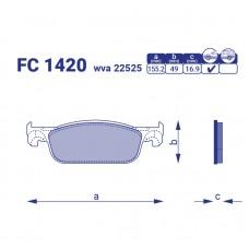 Тормозные колодки Lada X-Ray, FC1420, к-т