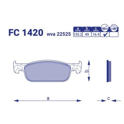 Тормозные колодки FC 1420