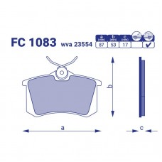 Тормозные колодки задние Ford Galaxy I, FC1083, к-т