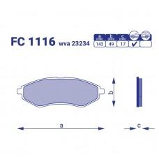 Тормозные колодки для авто FC 1116