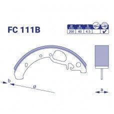 Барабанные колодки FC 111B