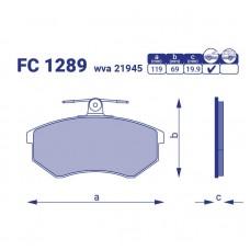 Передние тормозные колодки SEAT TOLEDO, FC 1289, к-т