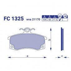 Колодка тормозная передняя ВАЗ 2108-15, FC1325, к-т