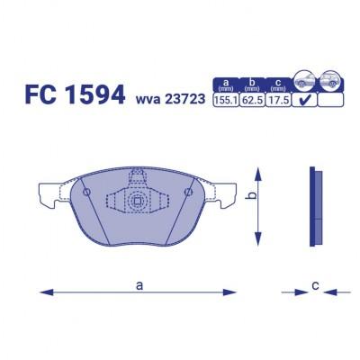 Тормозные колодки для авто FC 1594
