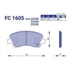 Тормозные колодки для авто FC 1605