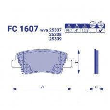Тормозные колодки для авто FC 1607