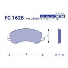 Тормозные колодки для авто FC 1628