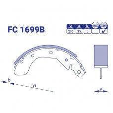 Барабанные колодки FC 1699B
