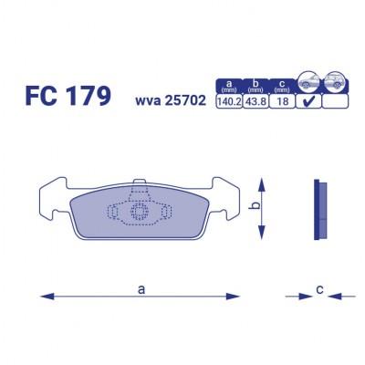Тормозные колодки для авто FC 179