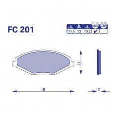 Колодка тормозная передняя ЗАЗ Forza, FC201, к-т