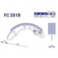 Барабанные колодки FC 201B