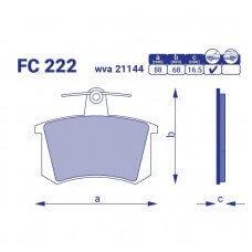 Тормозные колодки для авто FC 222