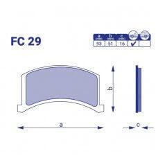 Колодка тормозная передняя ЗАЗ Дана, FC29,к-т