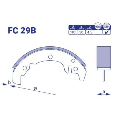 Барабанные колодки FC29B