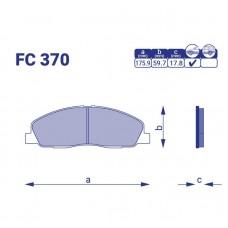 Колодка тормозая передняя ГАЗ (Next) 3302, FC370, к-т