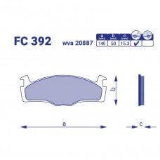 Колодка торм. передняя CORDOBA, FC 392, к-т