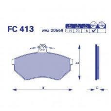 Колодка тормозная перед. AUDI 80 II, FC 413, к-т