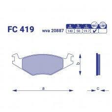 Передние тормозные колодки SEAT TOLEDO, FC 419, к-т