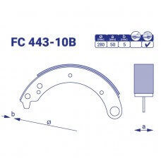 Барабанные колодки FC443-10B