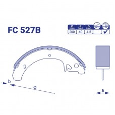 Цена на барабанные колодки для ВАЗ. Модель FC 527B