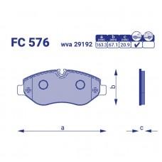 Тормозные колодки Mersedes-Benz Sprinter 3,5-t с борт.плат/ход.часть (906), FC576, к-т