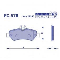 Тормозные колодки для авто FC 578