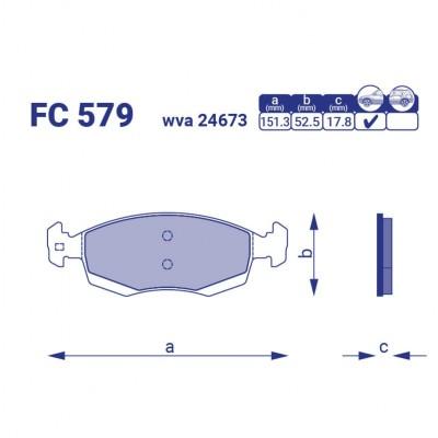 Тормозные колодки для авто FC 579