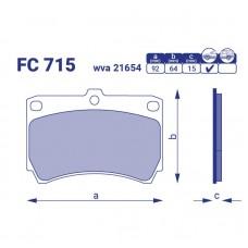 Колодка тормозная передняя Mazda MX-3, FC715, к-т