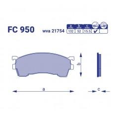 Тормозные колодки для авто FC 950