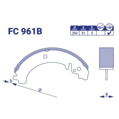 Колодка тормозная задняя ВАЗ 2101-07, FC 961B, к-т