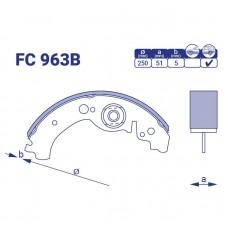 Колодка тормозная задняя ВАЗ 2103, 2106 FC963B, к-т
