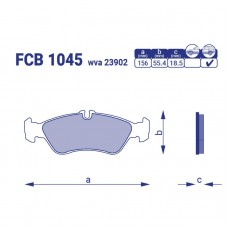 Тормозные колодки для авто FCB 1045