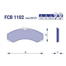 Тормозные колодки для авто FCB 1102