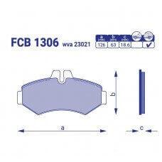 Тормозные колодки для авто FCB 1306