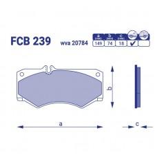 Тормозные колодки для авто FCB 239