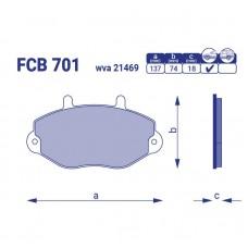 Тормозные колодки для авто FCB 701