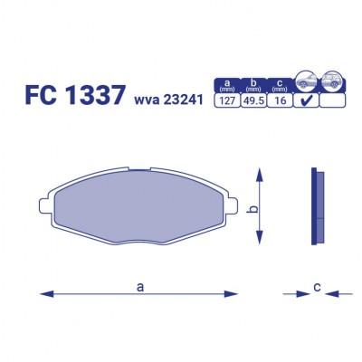 Колодка тормозная перед.  Chevrolet Sens, FC 1337, к-т
