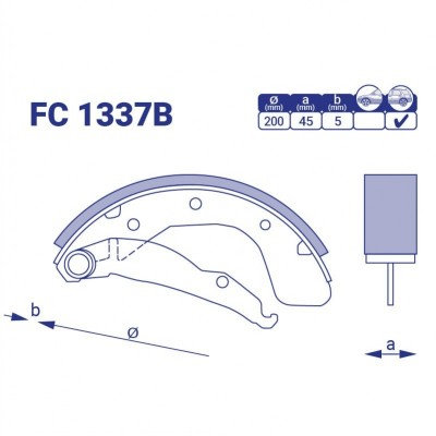 Колодка тормозная задняя Chevrolet Sens, FC1337B, к-т