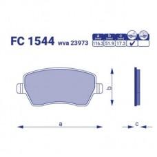 Тормозные колодки  Dacia Logan pic-up, FC1544, к-т