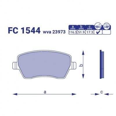 Тормозные колодки Dacia Duster I II,  FC 1544, к-т