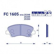 Тормозные колодки Hyundai Accent IV, FC1605, к-т