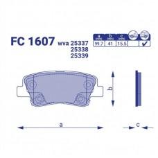 Тормозные колодки Hyundai i40, FC1607, к-т